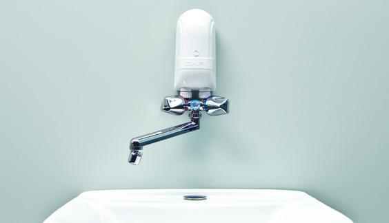 5 5 kw dafi 230 v avec robinet en plastique couleur chrome. Black Bedroom Furniture Sets. Home Design Ideas