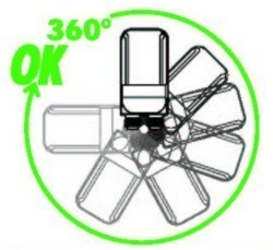 Dafi water heater 3,7 kW installation at any angle