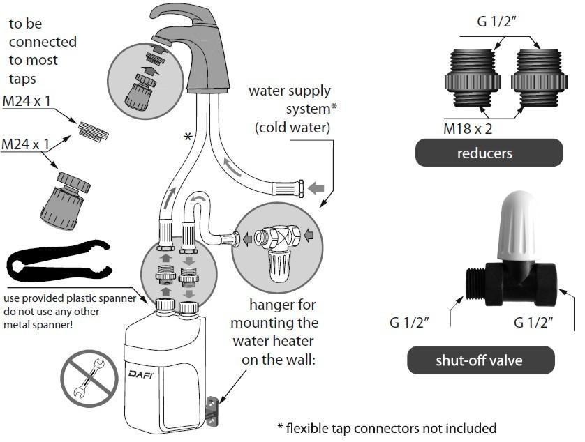 Dafi water heater flexible model manua