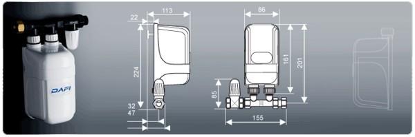 Mini scaldacqua dafi unifase 7 3 kw 230 v con il connettore - Non esce acqua calda dallo scaldabagno ...