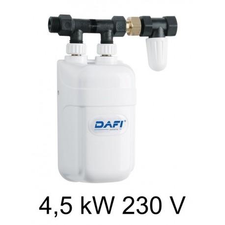 Calentador instantáneo eléctrico de agua DAFI 4,5 kW 230V - bajo mesa (monofásico)