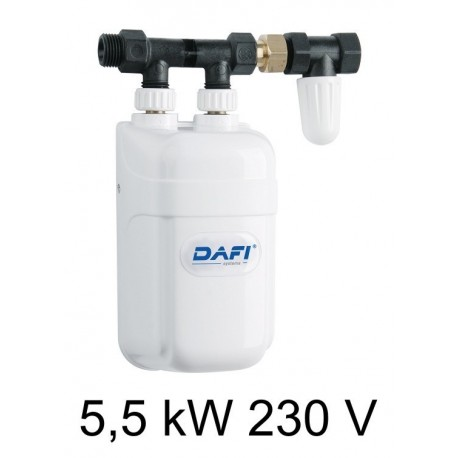 Chauffe-eau instantané électrique DAFI 5,5 kW 230V - sous l'évier (monophasé)