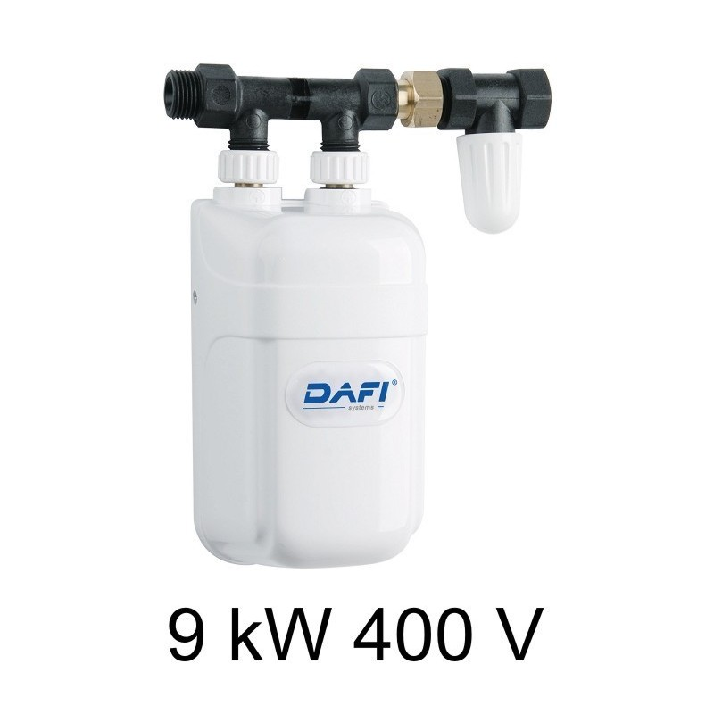 Instantaneous Water Heater >> Dafi water heater 9 kW 400 V with pipe connector - under sink