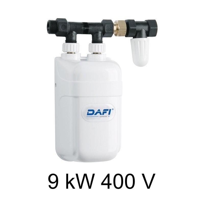 """Der Biphase Kleindurchlauferhitzer Dafi 9 kW 400 V mit dem ½ Anschluss"""""""