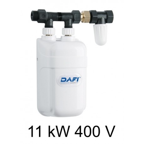 Dafi water heater 11 kW 400 V - under sink - Electric Instantaneous Dafi water heater - with pipe connector