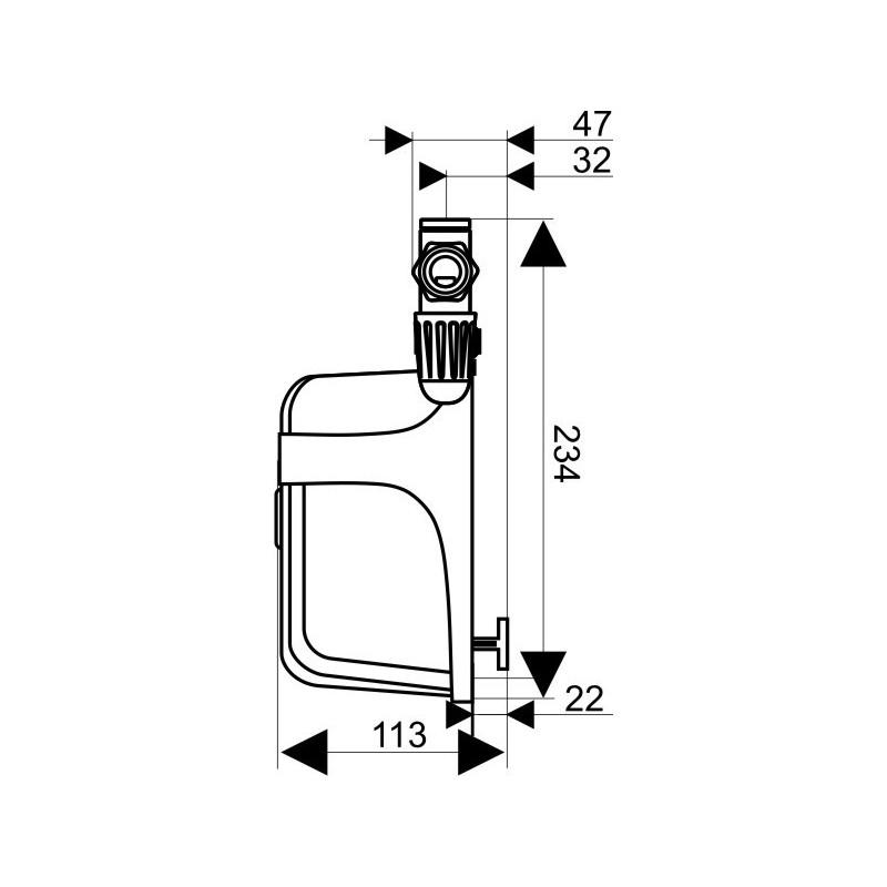Mini scaldacqua dafi unifase 3 7 kw 230 v con il connettore for Scalda acqua istantaneo elettrico