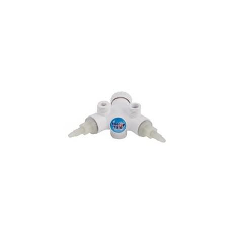 Körper der Armatur Dafi mit Ventilen- Farbe weiß