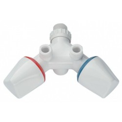 Armatur Dafi ohne Wasserauslass- Farbe weiß