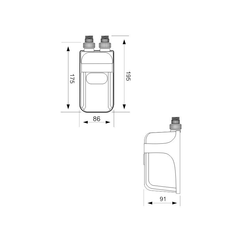 dafi 5 5 kw 230v einphasig ohne geh use nur heizelement. Black Bedroom Furniture Sets. Home Design Ideas