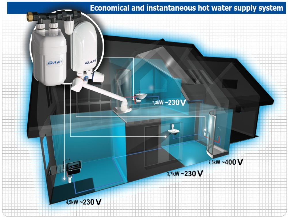 Economical and instantaneous hot water supply system