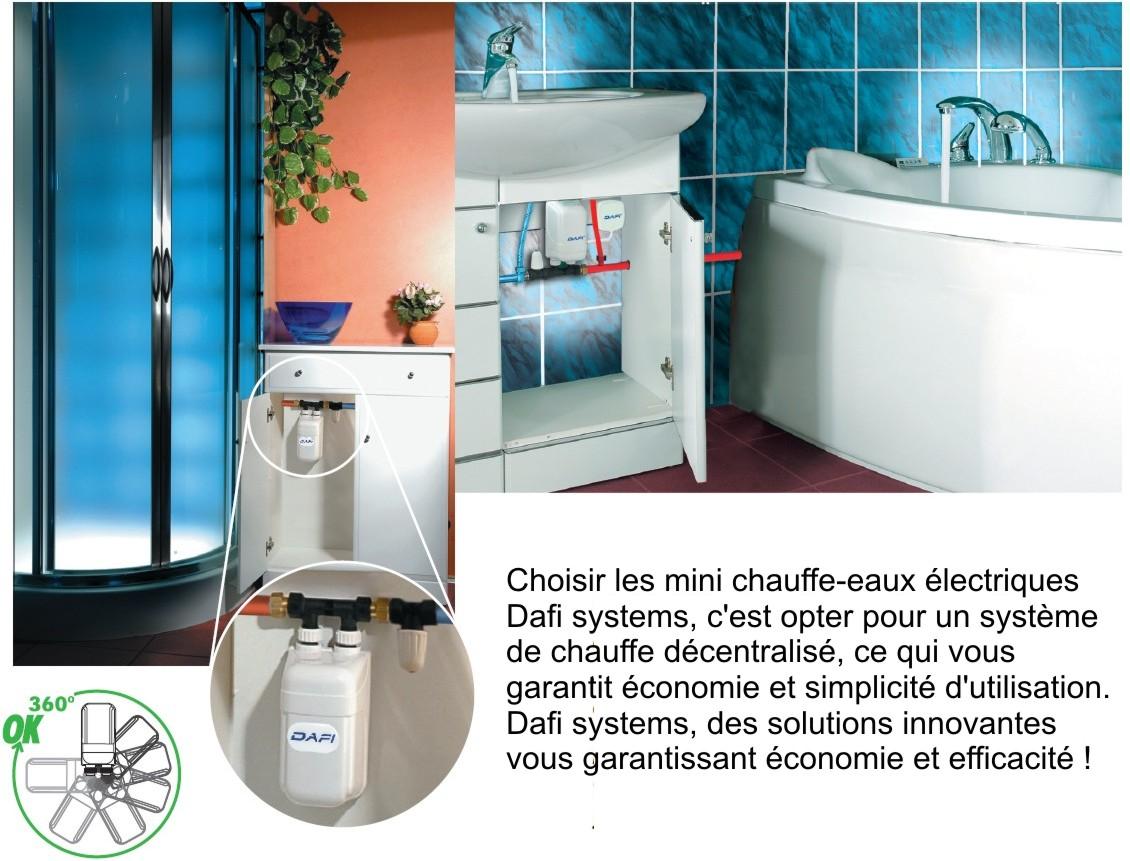 chauffe eau lectrique instantan dafi 3 7 kw 230v connecteur monophas ebay. Black Bedroom Furniture Sets. Home Design Ideas