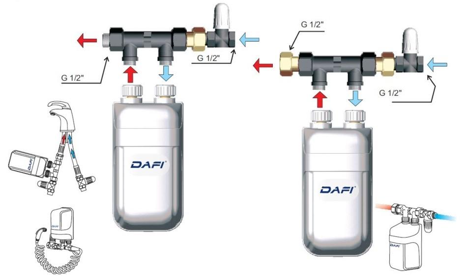 Dafi 11 kw 400v scalda acqua elettrico istantaneo for Scalda acqua istantaneo elettrico
