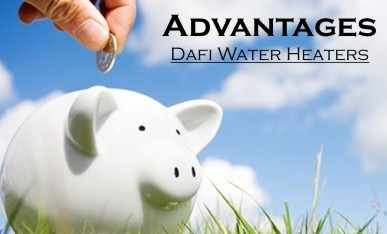 Advantages Dafi water heaters