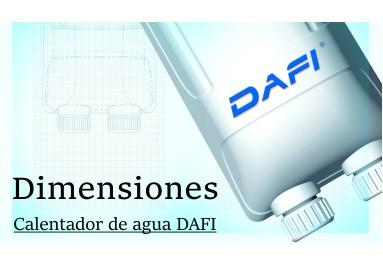 Dimensiones Calentadores de agua Dafi