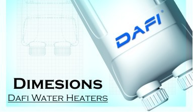 Dimensions Dafi water heaters