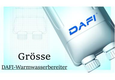 Abmessungen Dafi Warmwasserbereiter